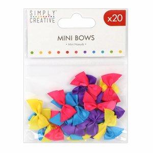 Set de mini lazos en color Mix Brightl x20 pcs