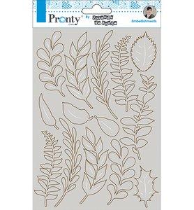 Chipboard Pronty Crafts tamaño A5 Leaves