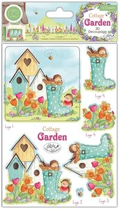Set de hojas de Die Cuts Cottage Garden