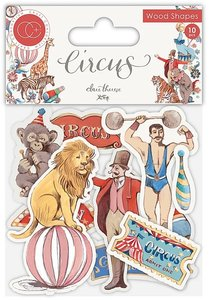 Set de maderitas decoradas Circus