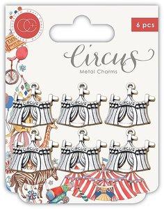 Set de charms metálicos Circus
