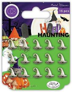 Set de charms metálicos Craft Consortium Witches Hat