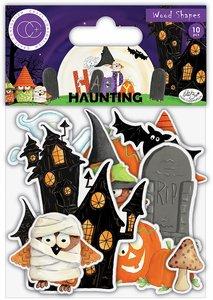 Set de maderitas decoradas Craft Consortium Happy Haunting