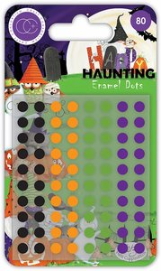 Set de enamel dots brillantes Craft Consortium Happy Haunting