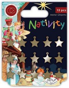 Set de charms metálicos Craft Consortium Nativity Stars