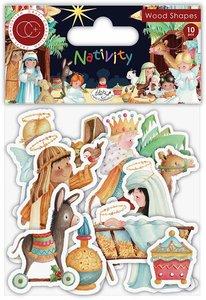 Set de maderitas decoradas Craft Consortium Nativity