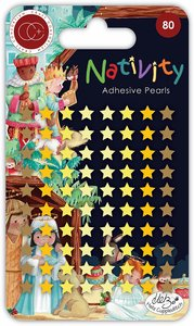 Set de perlitas adhesivas Craft Consortium Nativity Stars