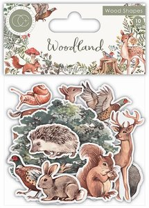 Set de maderitas decoradas Craft Consortium Woodland
