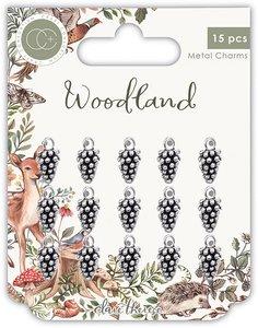 Set de charms metálicos Craft Consortium Woodland Pine Combs