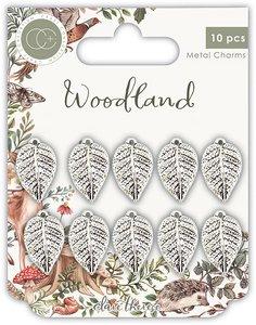 Set de charms metálicos Craft Consortium Woodland Leafs