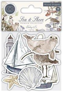 Set de maderitas decoradas Craft Consortium Sea & Shore