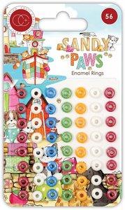 Set de Enamel Rings Craft Consortium Sandy Paws