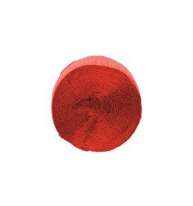 Tira de papel crepe rojo