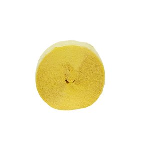 Tira de papel crepe amarillo