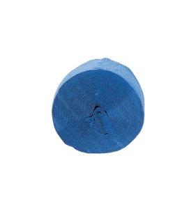 Tira de papel crepe azul eléctrico