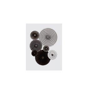 Abanicos de Papel negro