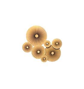 Abanicos de Papel Print Gold