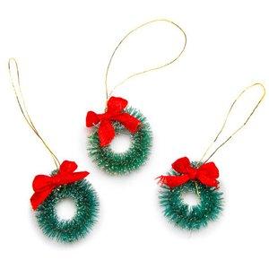 Mini coronas de navidad nevadas 2,5 cm