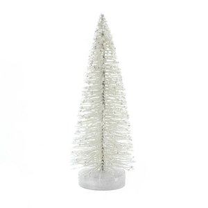 Árbol blanco con purpurina 20 cm