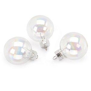 Set de 20 bolas de cristal iridiscente de 3,5 cm