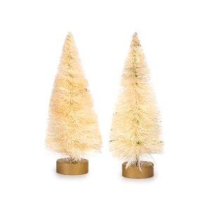 Mini abetos de navidad blancos 10 cm