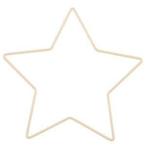 Aro de metal en forma de estrella dorada 31 cm