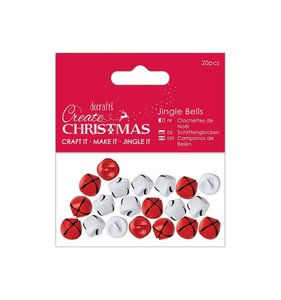 Jingle Bells Create Christmas Red & White 20 pcs