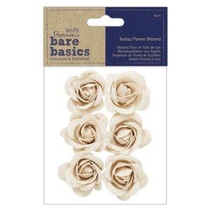 Flores de arpillera Bare Basics Roses 6 pcs