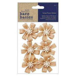 Flores de arpillera Bare Basics Blossoms 6 pcs