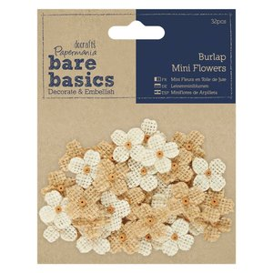 Flores de arpillera Bare Basics Mini Wild Flowers 32 pcs
