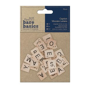 Maderitas Bare Basics Caption Letters 30 pcs