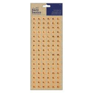Letras de corcho adhesivas Bare Basics Scrabble Tiles 96 pcs