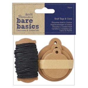 Etiquetas Kraft & Cord Bare Basics 30 pcs Circles