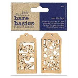 Etiquetas Laser Cut Bare Basics 4 pcs