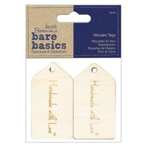 Etiquetas de madera Bare Basics Handmade With Love 6 pcs