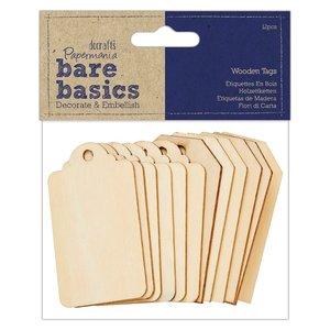 Etiquetas de madera Bare Basics 12 pcs