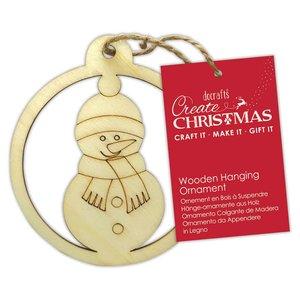 Maderita colgante Create Christmas Snowman