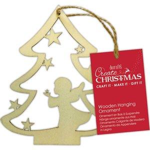 Maderita colgante Create Christmas Angel Tree