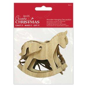 Maderitas colgantes Create Christmas Rocking Horse 4 pcs