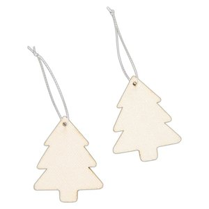 Maderitas colgantes Create Christmas Glittered Trees 4 pcs