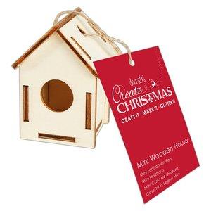 Maderitas para colgar 3D Create Christmas House Circle Window