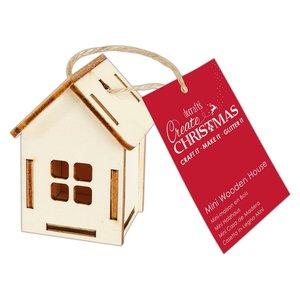 Maderitas para colgar 3D Create Christmas House Four Windows