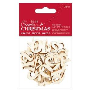 Maderitas Números de Adviento Create Christmas 25 pcs