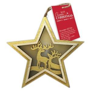Figura colgante con luz Create Christmas Star Stags