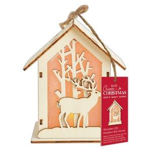 Figura colgante con luz Create Christmas Big House Stag