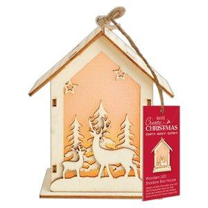 Figura colgante con luz Create Christmas Big House Stag & Tree