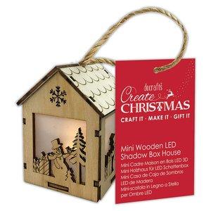 Figura colgante con luz Create Christmas House Snowman