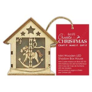 Figura colgante con luz Create Christmas House Rocking Horse