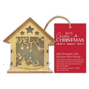 Figura colgante con luz Create Christmas House Noel