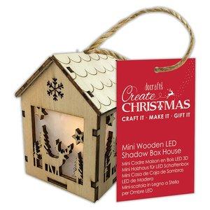 Figura colgante con luz Create Christmas House Winter Stag